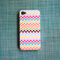 NEW Multicolor Chevron iPhone 4 or 4S by PencilShavingsStudio
