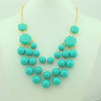 Sky Blue Necklace, Bubble Necklace,.. on Luulla
