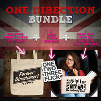 One Direction Bag-Sticker-Decal Bundle - (Accessories Laptop Bag PC Apple Macbook Mac Geekery)