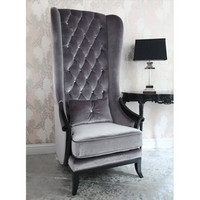 Very Velvet Blofeld Platinum Chair|Chairs &amp; Armchairs|Seating|French Bedroom Company