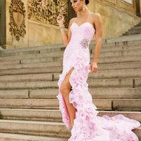 Pink Mermaid Party Prom Evening Gown Pageant Dresses Bridal Gowns Custom
