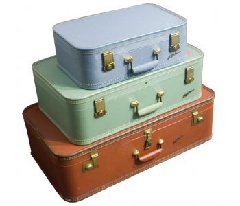 Midcentury Vintage Set of Three Suitcase : The Old Cinema - Antique Vintage Retro