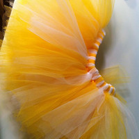 baby girl yellow tutu by kissedwithcreativity on Etsy
