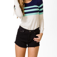 Striped Colorblock Sweater