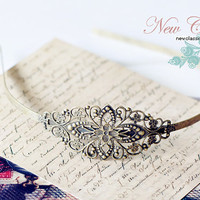 Vintage Brass Filigree Headband Antique Bronze by EtsyPendants