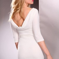 White Glitter Decor Quarter Sleeve Party Dress @ Amiclubwear sexy dresses,sexy dress,prom dress,summer dress,spring dress,prom gowns,teens dresses,sexy party wear,women's cocktail dresses,ball dresses,sun dresses,trendy dresses,sweater dresses,teen clothi