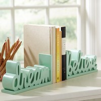 Dream + Believe Word Bookends