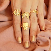 Cute Heart, Skullie, Bow, Peace &amp; Wings Rings