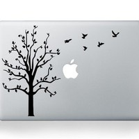 Tree Bird Decal Sticker Skin for Apple MacBook Pro Unibody Mac Air 15&quot;