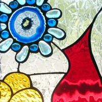 Modern Handmade Stained Glass Panel Window by FleetingStillness