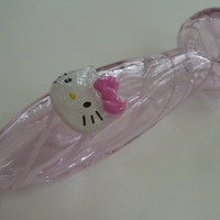 Cute Pink Hello Kitty Glass Tobacco Pipe