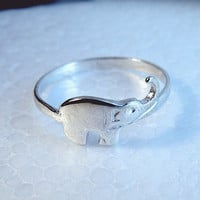 Elephant ring sterling silver