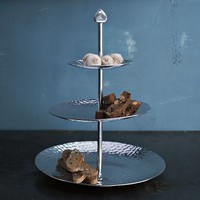 Hammered Metal 3-Tiered Server | west elm