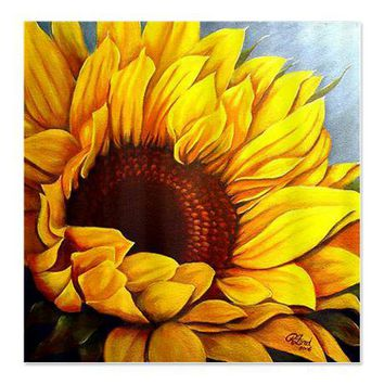 Sunflower Shower Curtain on CafePress.com