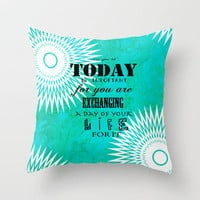 Life Quote Throw Pillow by Kayla Gordon | Society6