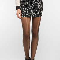 Sparkle & Fade Intarsia Knit Pencil Skirt