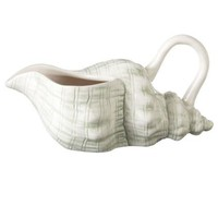 Conch Shell Jug - Green  Cream - OKA