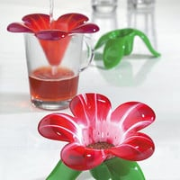 Audrey Murano by Koziol ? flower tea strainer from Red Candy