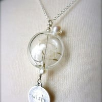 Make a Wish Dandelion Pendant Necklace by springdream on Etsy