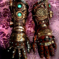 Custom made Steampunk Robot Arm gauntlet