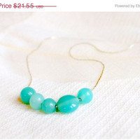 New Year SALE/ Mint green necklace bubble necklace by visska