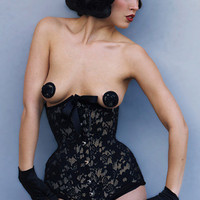 Edwardian longline corset- Morgana Femme Couture