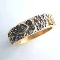 Hibiscus Custom Ring 18k