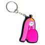 Adventure Time Princess Bubblegum 3-d Rubber Keychain
