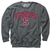 Stanford Cardinal Dark Heather Perennial Ii Crewneck Sweatshirt