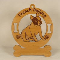 3202 French Bulldog Sitting Personalized Dog by gclasergraphics