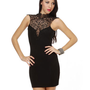 Beautiful Black Dress - Lace Dress - Body-Con Dress\