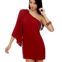 Beautiful Red Dress - One Shoulder Dress - $36.00