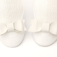 White Leatherette Kawaii Cutie Pie Shoe Bow Clips by TheBowMakers