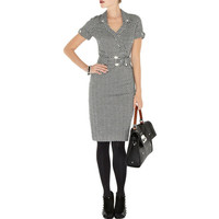 Multi Cocktail Dress - Bqueen Zig Zag Jersey Dress | UsTrendy