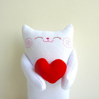 Cat Plush  Kitty Sincere  Etsy Project by dancingintherains
