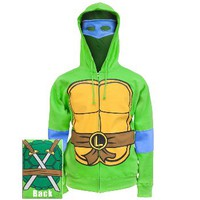 Teenage Mutant Ninja Turtles - Leonardo Costume Zip Hoodie | OldGlory.com