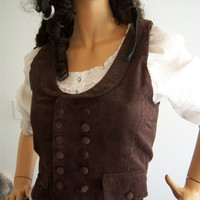 Steampunk Victorian Style Double Breasted Brown by Reenacat