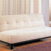 Beige Finish Futon Sofa Bed Klik Klak by Coaster Furniture