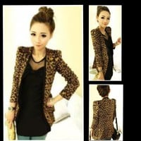 """Cheetah Girl"" Blazer"