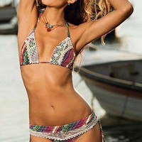 Saha - Catch Of The Day Bikini Tribal Lace | Shopmiamistyle