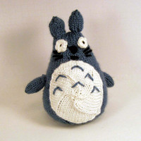 Chu Totoro Spirit of the Forest Knitted by anamorphicecho