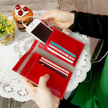 Multi-function Vintage Wallet with Phone and Card Pocket
