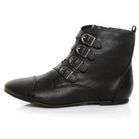 Miss Me Emmah 9 Black Belted Ankle Boots 