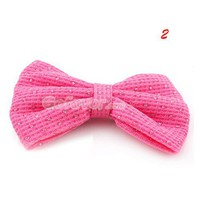Lovely Sequined Bow Elastic Ponytail Holder at Online Cheap Fashion Jewelry Store Gofavor