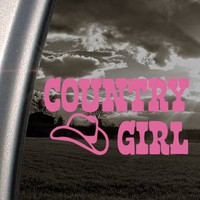 Amazon.com: Country Girl US Cow Girl Pink Decal Truck Window Pink Sticker: Arts, Crafts & Sewing