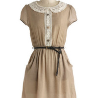 Taupe Floats Dress | Mod Retro Vintage Dresses | ModCloth.com