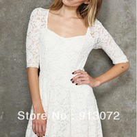 Lace Cocktail Dress - White