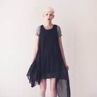 ASYMMETRIC SHEER DRESS