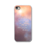 CHRISTIAN QUOTE, Religious iPhone Case, Inspirational iPhone Case for iPhone 4 or 5, iPhone 5 Case, iPhone 4 Cover, iPhone 5 Cover