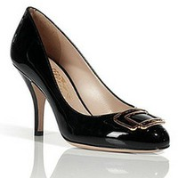 Salvatore Ferragamo Black patent leather pumps